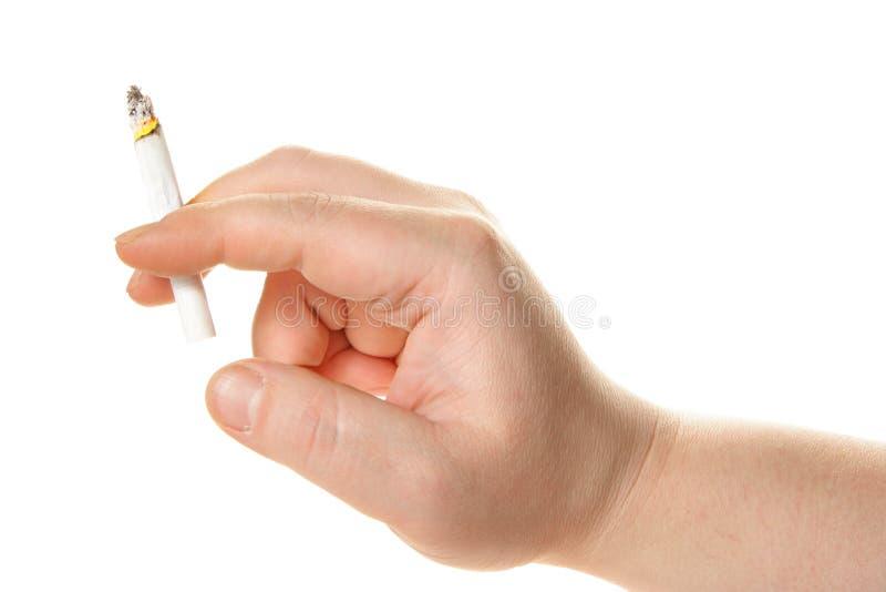 ręce papierosowa człowiek gospodarstwa fotografia royalty free