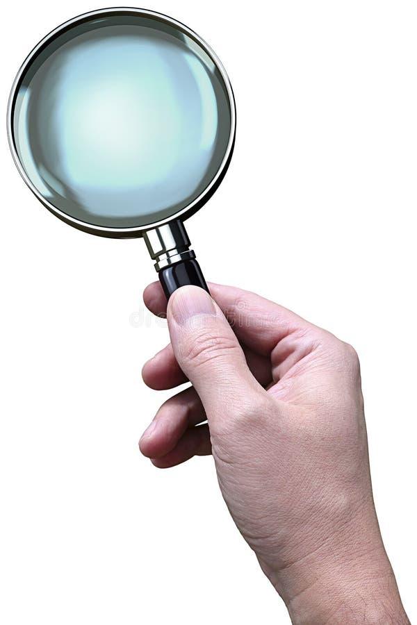 ręce powiększać szklany ilustracja wektor