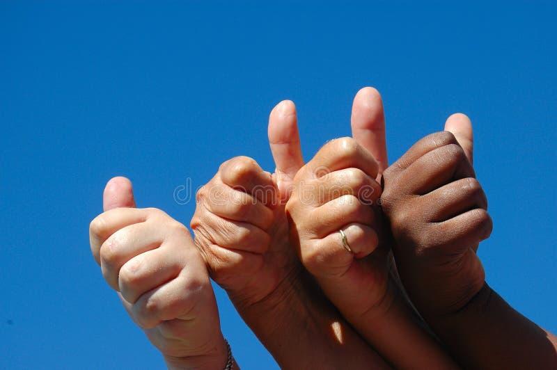 ręce powodzeniem dziewczyn obraz stock