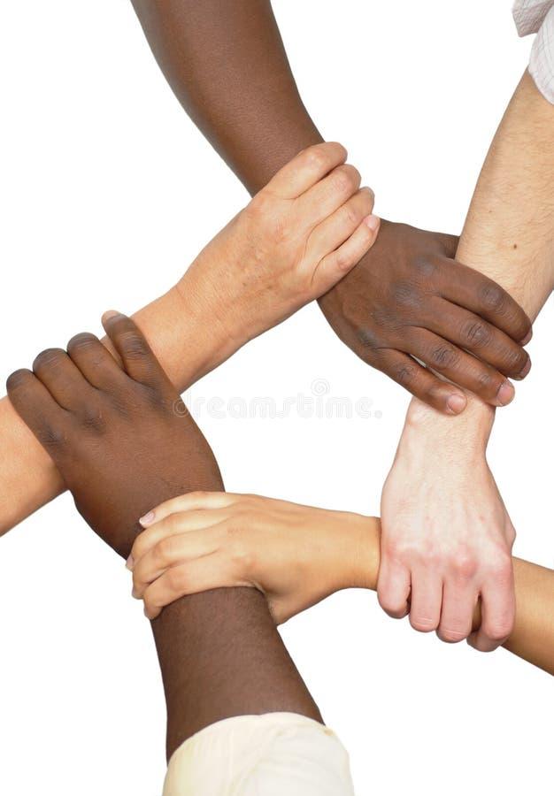 ręce spinająca jedności. zdjęcia royalty free