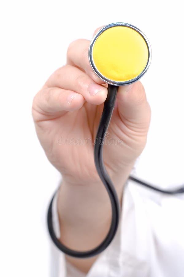 ręce stetoskop gospodarstwa zdjęcia royalty free