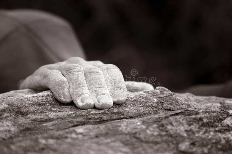 ręce wspinaczkowe skały serii pojedynczych zdjęcia royalty free