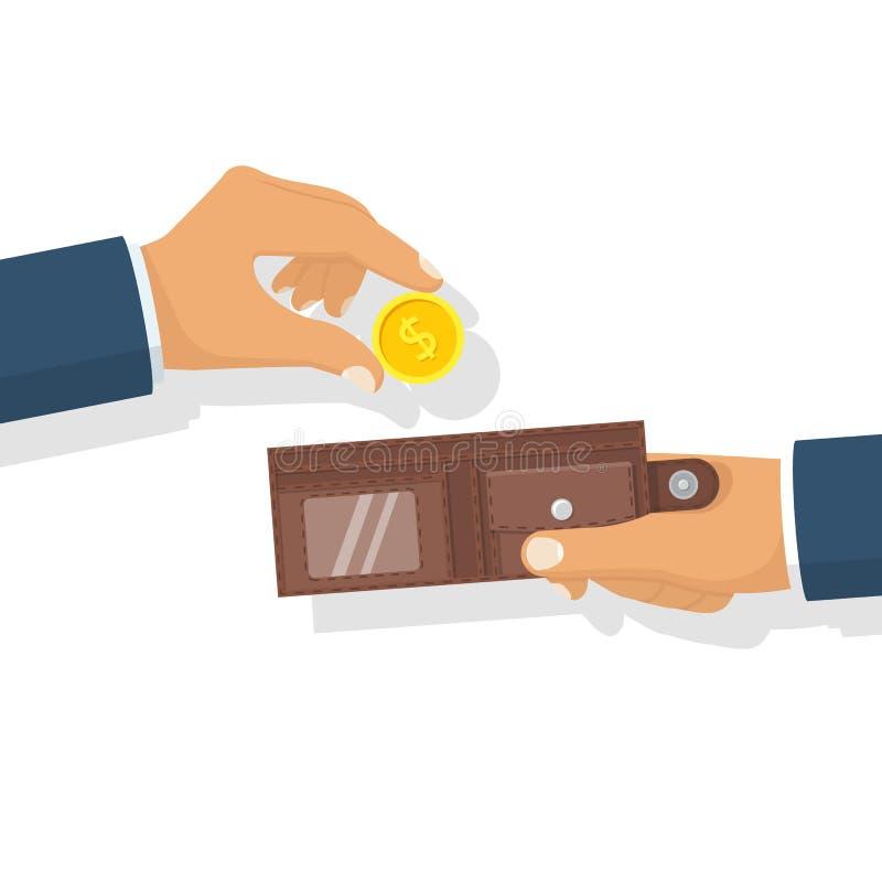 ręce zazielenień pieniądze wypłaty sukces kładzenie ilustracji