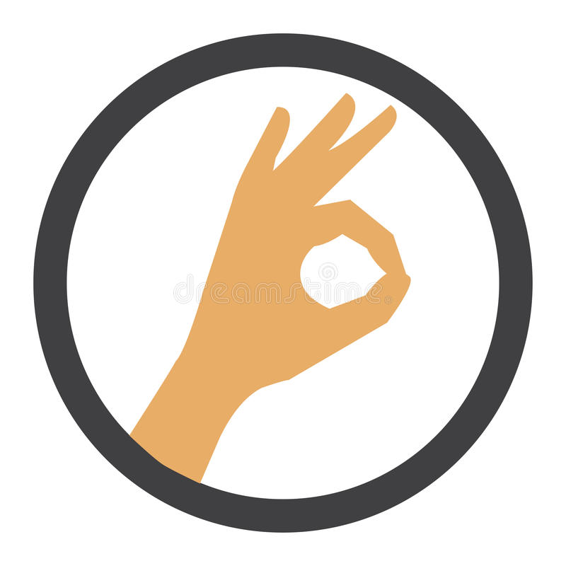 - ręce znaku odizolowana biała kobieta ilustracji