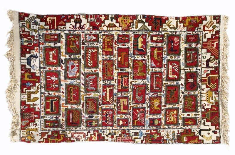 ręcznie dywan zdjęcia stock