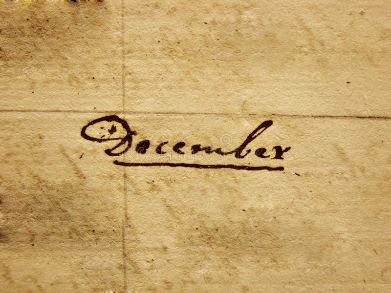 Ręcznie pisany Grudzień zdjęcia stock