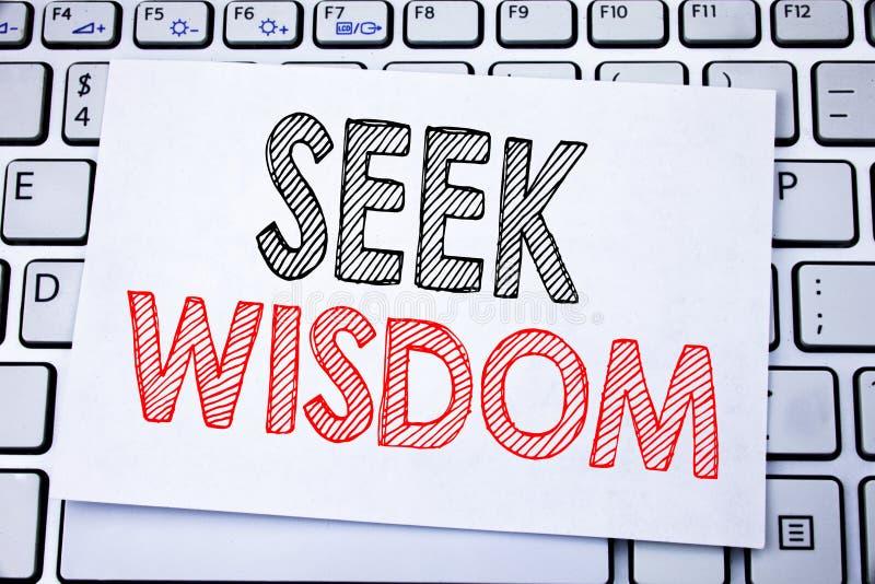 Ręcznie pisany teksta podpisu seansu aport mądrość Biznesowy pojęcia writing dla inspiraci wiedzy pisać na kleistym nutowym papie fotografia stock