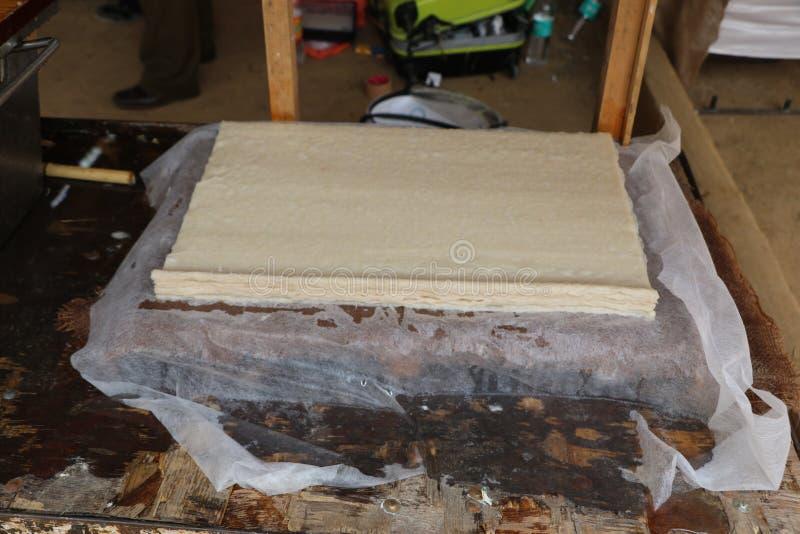 Ręcznie robiony świeży konopie papier zdjęcie stock
