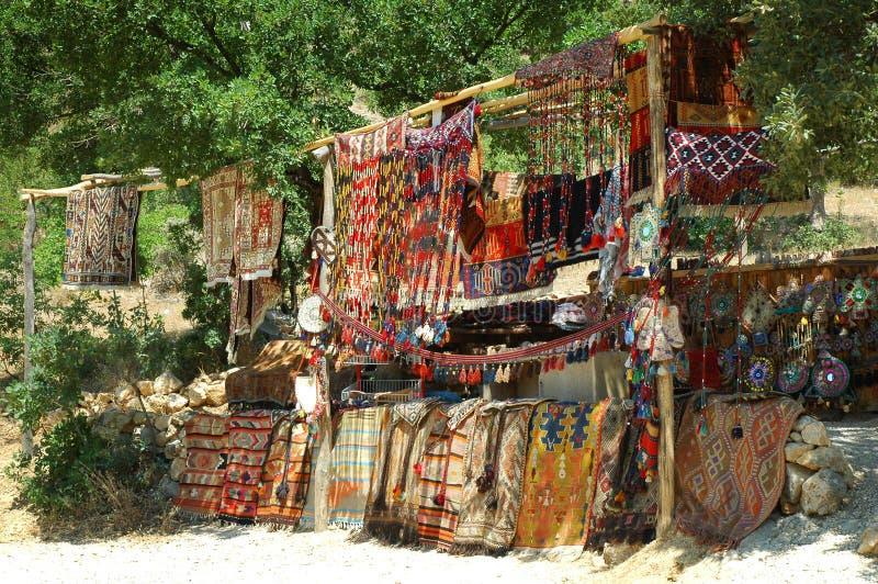 ręcznie robiony dywanów turkish zdjęcie stock