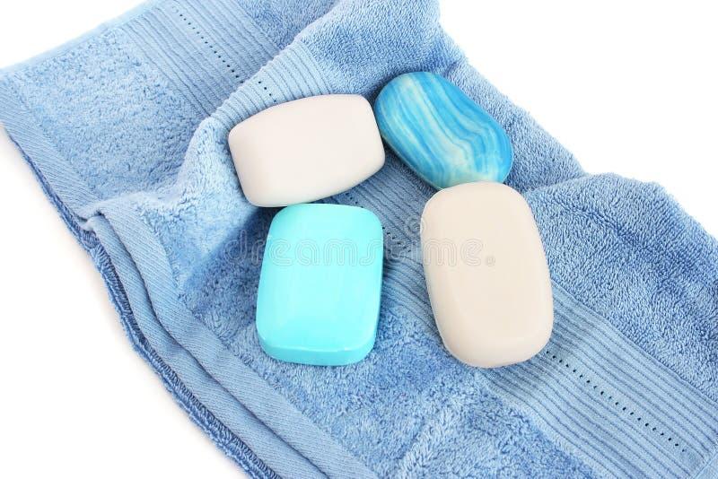 Ręczniki I Mydła Fotografia Royalty Free