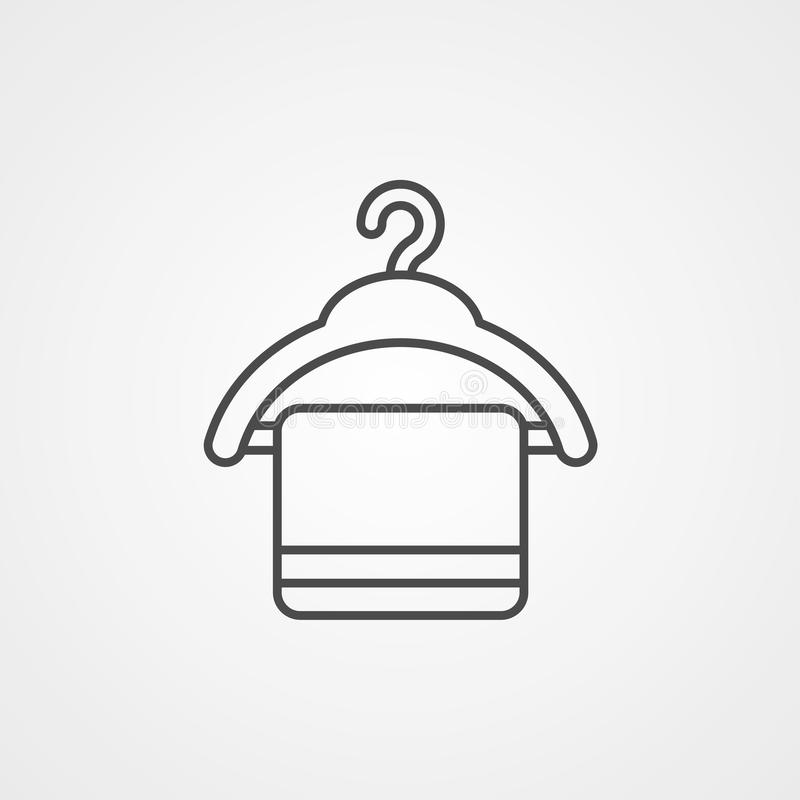 Ręcznikowy wektorowy ikona znaka symbol ilustracja wektor