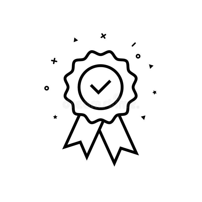 Ręczycielstwa certificat medal z zatwierdzonym dla sieć sklepu wektoru eps10 Zatwierdzona medal ikona ilustracja wektor