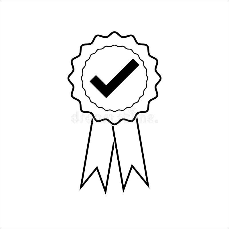 Ręczycielstwa certificat medal z zatwierdzonym dla sieć sklepu wektoru eps10 Zatwierdzona medal ikona ilustracji
