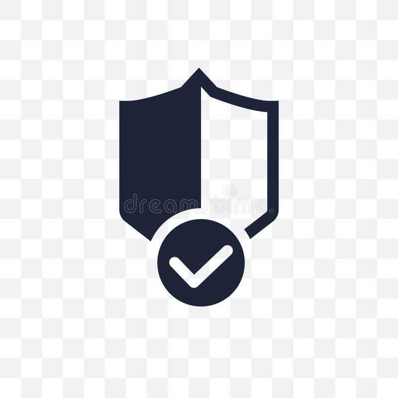 ręczycielstwo osłony przejrzysta ikona ręczycielstwo osłony symbolu projekt ilustracji