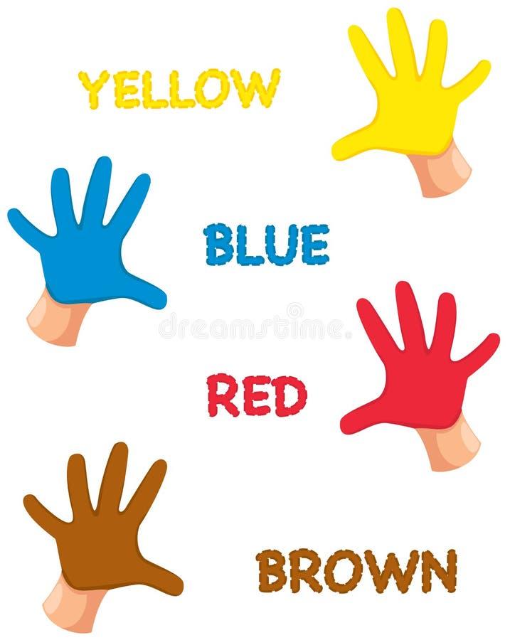 Ręk colours z listami ilustracji