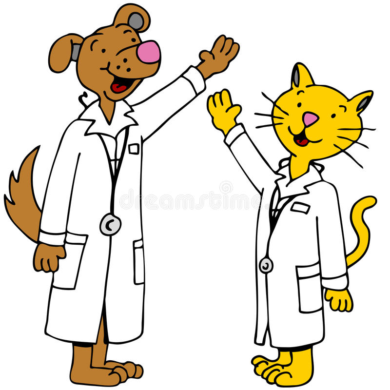 ręk lekarek zwierzę domowe podnoszący ilustracja wektor