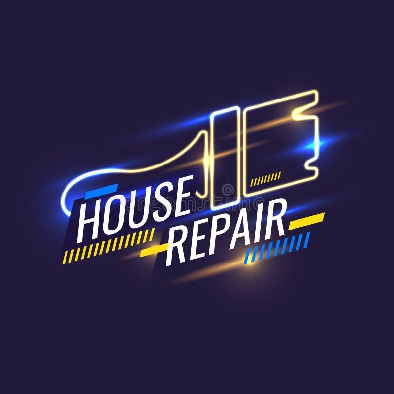 Ręk narzędzia dla domowego odświeżania i budowy Rocznika domu naprawy plakat royalty ilustracja