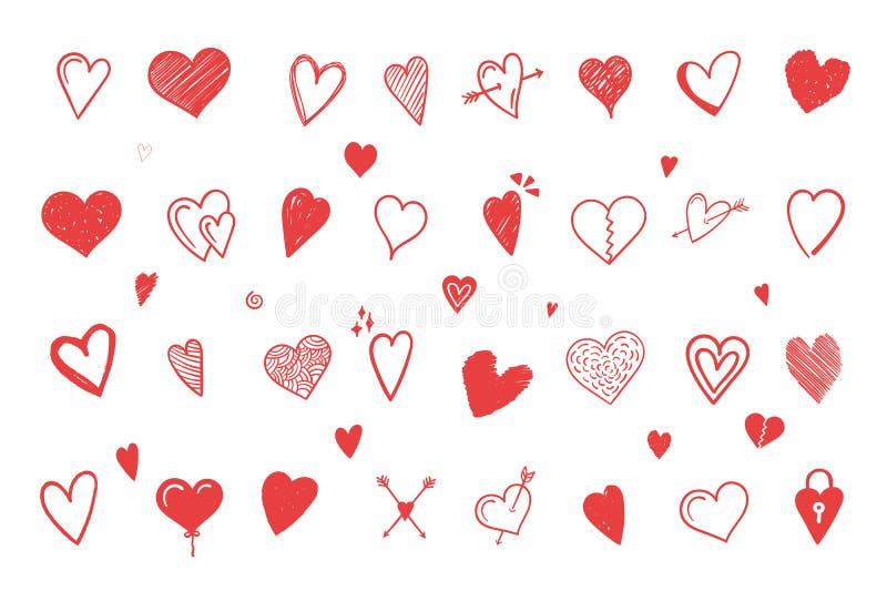 ręk patroszeni serca royalty ilustracja