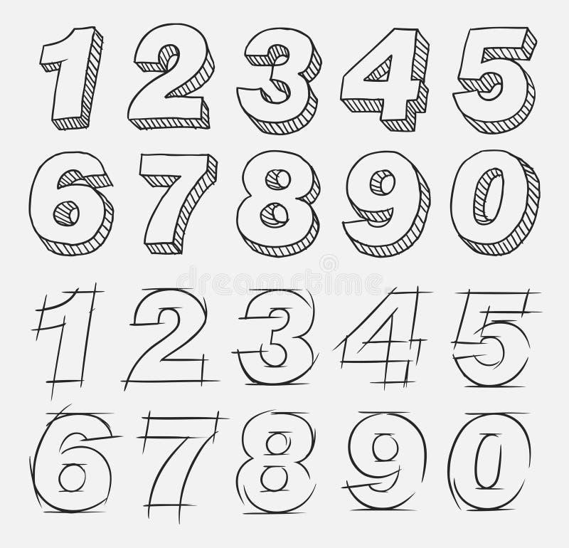 ręk patroszone liczby ilustracji