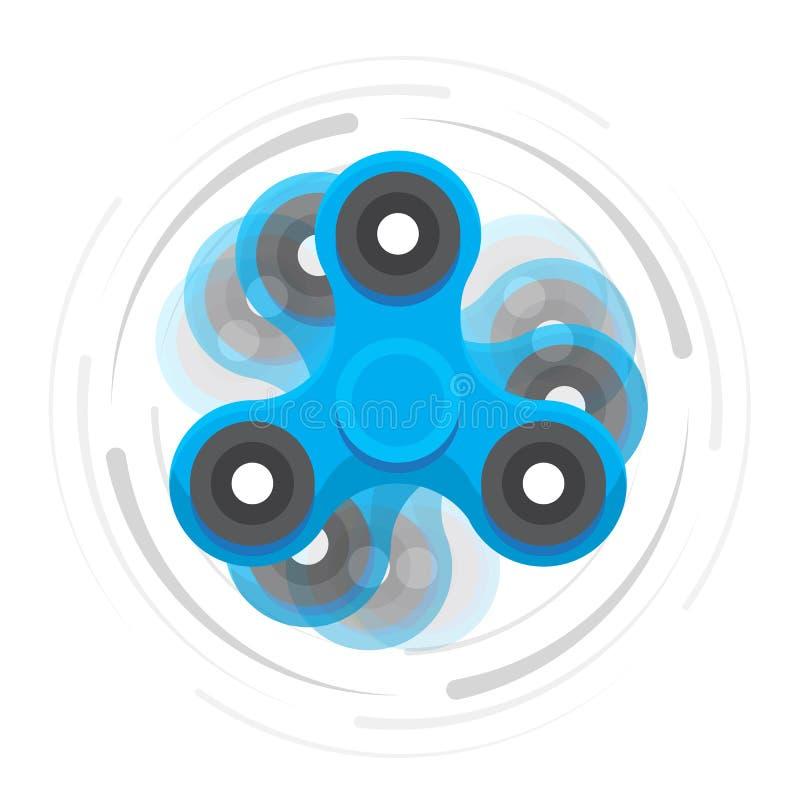 Ręka błękitny kądziołek w ruchu ilustracja wektor