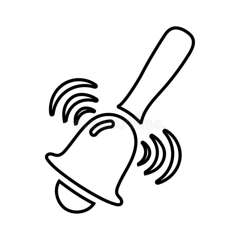 Ręka Bell, alarm ikona/ ilustracji