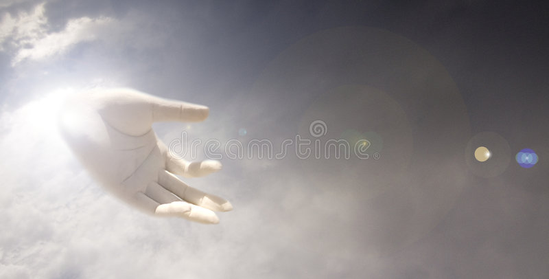 ręka boga ilustracja wektor
