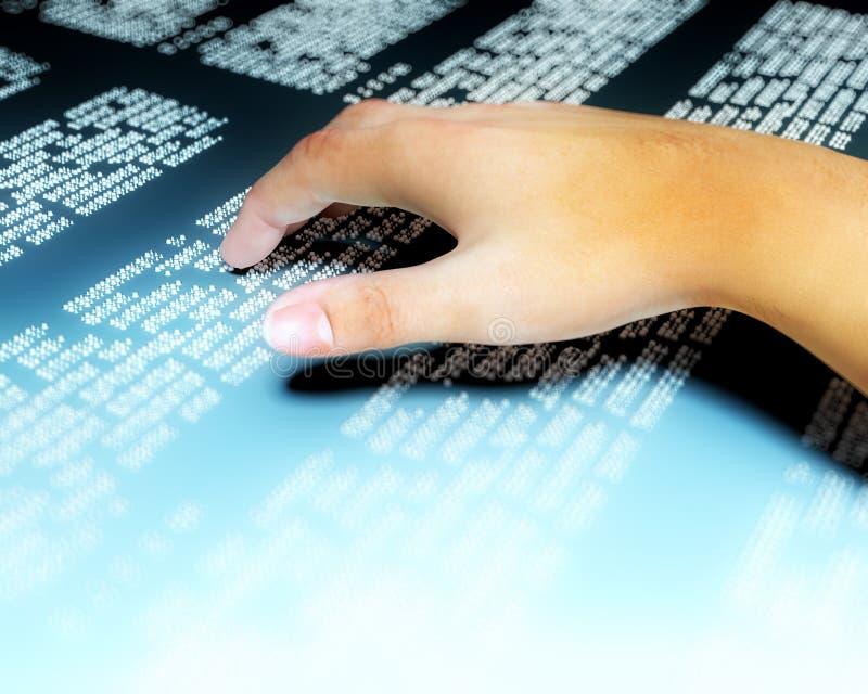 Ręka Braille ilustracji