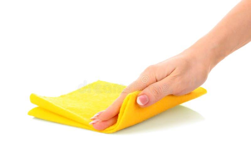 ręka czysty łachman obraz stock