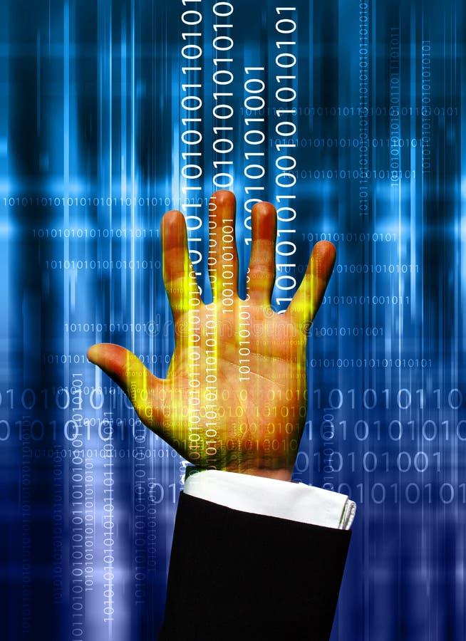 ręka danych ilustracja wektor