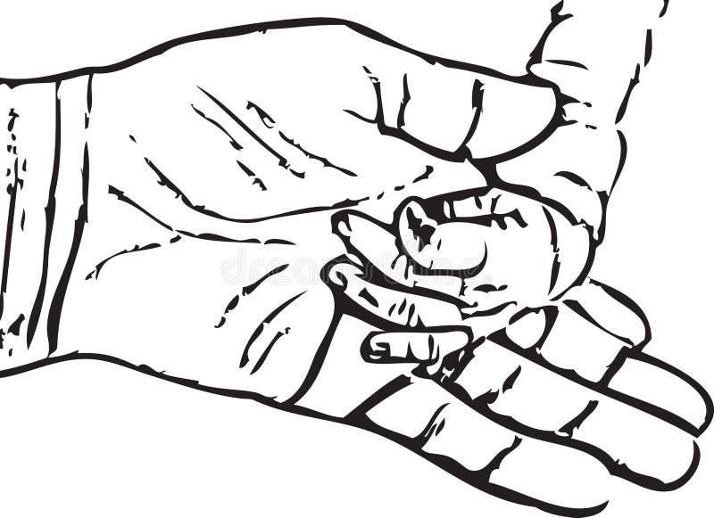 Ręka dziecko royalty ilustracja