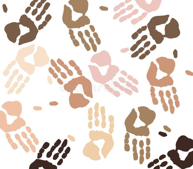 ręka etnicznych odcisków royalty ilustracja