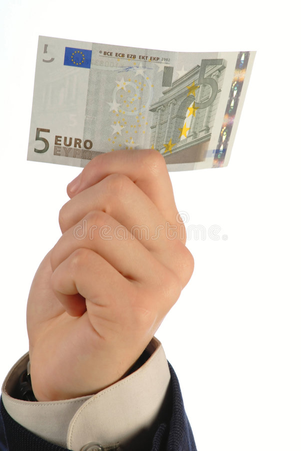 ręka euro obraz stock