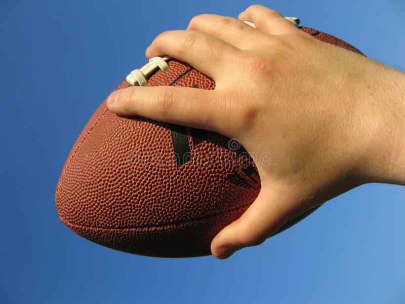 ręka futbolu zdjęcie stock