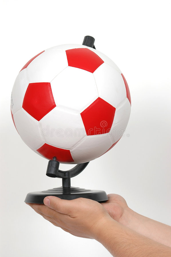 ręka futbolu obraz royalty free