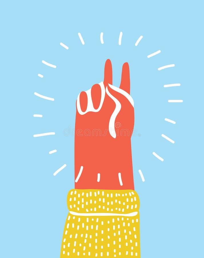 Ręka gesta pokój ilustracja wektor