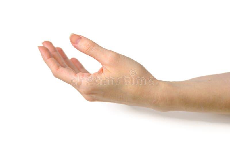 ręka gestu manicure kobiety zdjęcie stock