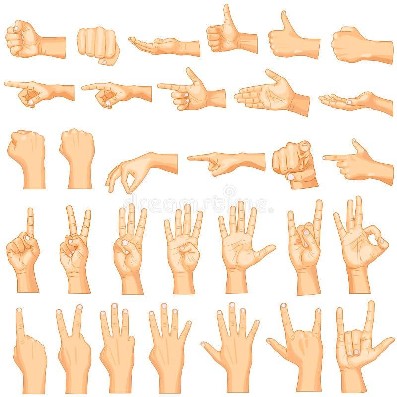 Ręka gesty royalty ilustracja