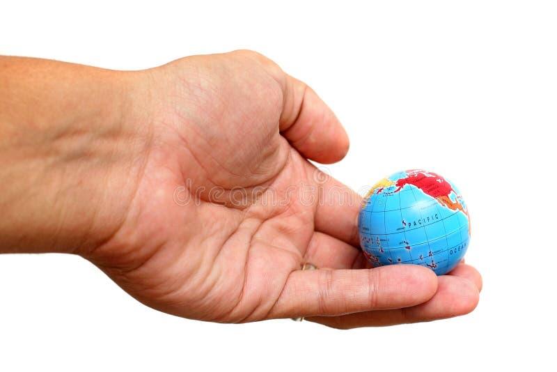 ręka globu zdjęcia royalty free