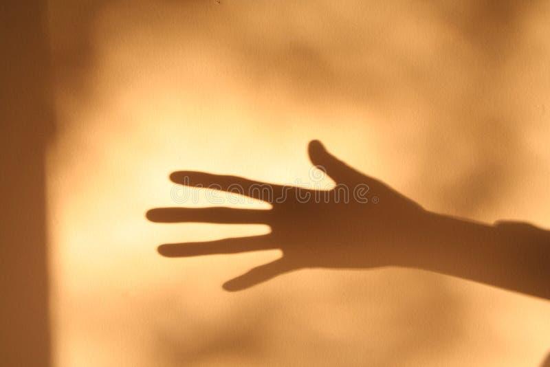 ręka horroru cień obrazy stock