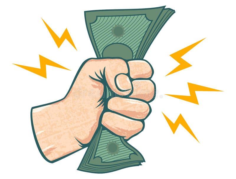 Ręka i pieniądze royalty ilustracja