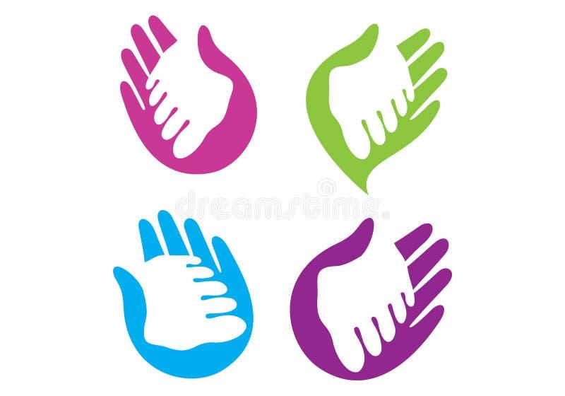 Ręka i stopa ilustracja wektor