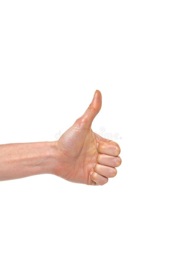 Ręka język - kciuk up obraz stock