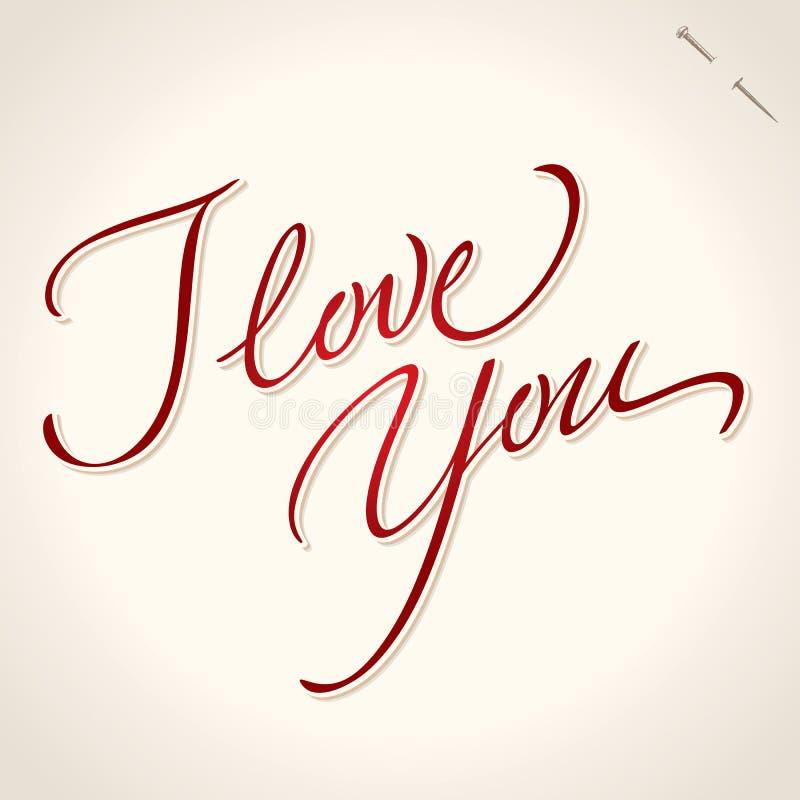 ręka ja literowania miłości wektor ty ilustracji