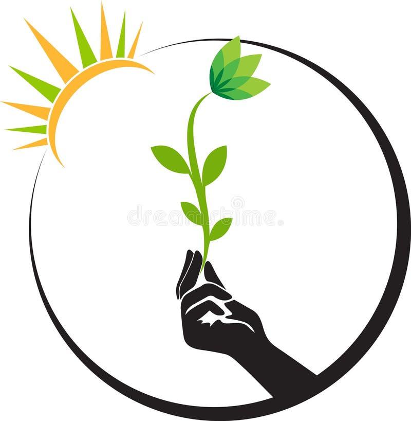 Ręka jaskrawy kwiat ilustracji