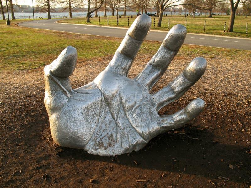 ręka jest gigantyczna zdjęcie royalty free