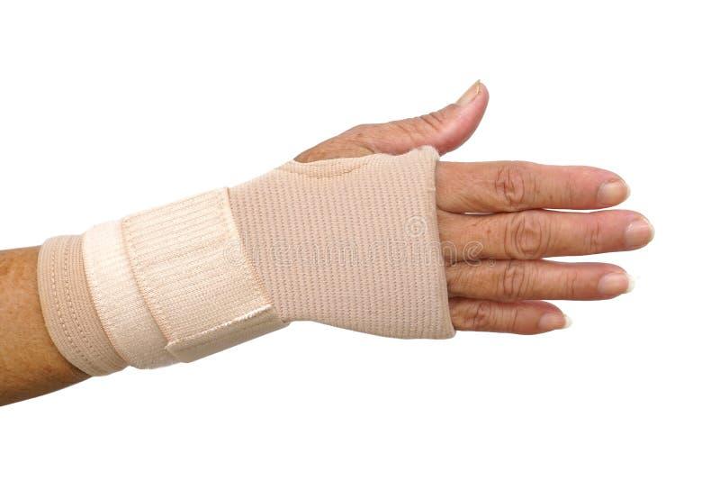 Ręka jest ubranym ręka nadgarstku terapii poparcia rękawiczkę obraz royalty free