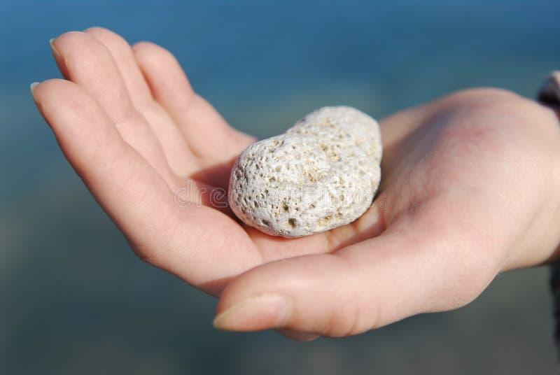 ręka kamień obrazy stock