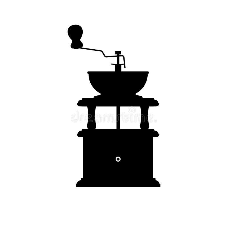 Ręka kawowego młynu ostrzarz ilustracja wektor