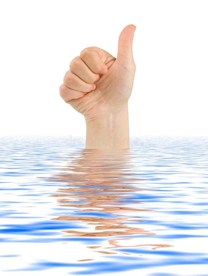 Ręka kciuk zdjęcie royalty free