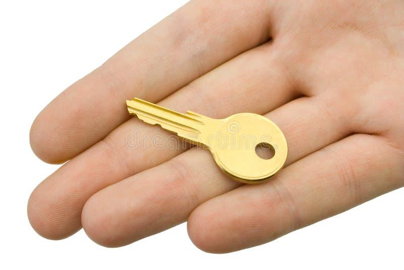 ręka klucz obrazy royalty free